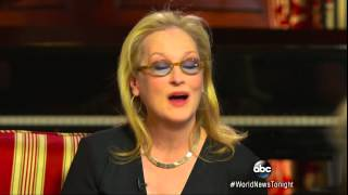 Meryl Streep Speechless, and What  She Is Afraid to Do on Camera