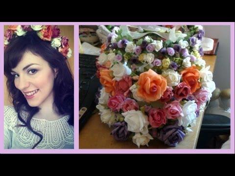 Coroas Tiaras de Flores ♥ Faça Você Mesma Plus cabelo rosa