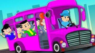 Pink Wheels On The Bus   Cartoon Videos And Songs   Kindergarten Nursery Rhymes by Kids Tv