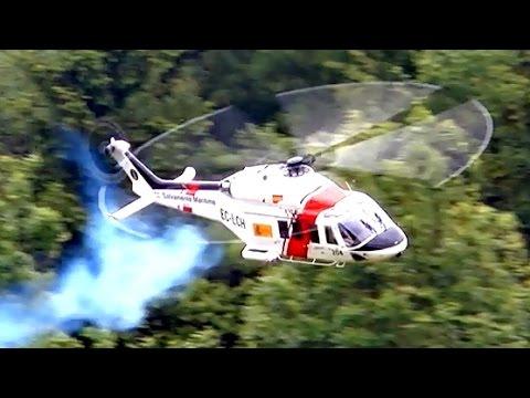 TURBINE EXPLOSION AW 139 BIG SCALE RC MODEL TURBINE HELICOPTER Pöting Turbine Meeting 2015