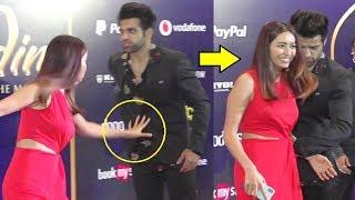 Asha Negi AWKWARD Moment With Rithvik Dhanjani On Red Carpet