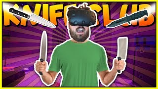 WE JOIN A SECRET UNDERGROUND FIGHT CLUB - Knife Club VR Gameplay - VR HTC Vive