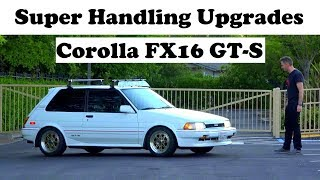 Super Handling Upgrades - MRP Coilovers Installed On Corolla FX16 (AE82)