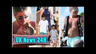 Simon cowell meets a monkey before taking family on barbados boat tour| UK News 24H