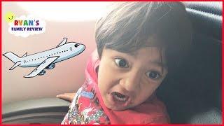 Family Fun Vacation! Kid React Airplane Trip to NYC Hotel Tour! Ryan