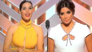 America and Eva at the Golden Globes: My favorite moment!