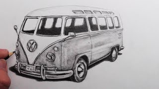 How to Draw a VW Camper Van: Narrated Step by Step