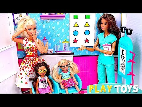 Xxx Mp4 Barbie Girl And Baby Dolls Visit Barbie Eye Doctor Pretend Toys Play 3gp Sex