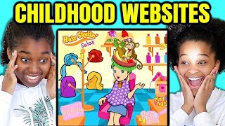 Reacting To OLD CHILDHOOD ONLINE GAMES - Onyx Family
