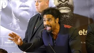 (HEATED) DAVID HAYE ERUPTS ON TONY BELLEW AND HIS