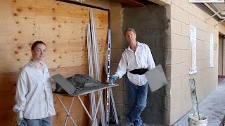 Teaching Rendering stucco walls like quoin stones or concrete blocks
