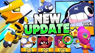 3 NEW Star Powers Gameplay! - STAR Shop Skins Prices! - New Brawler TICK & More! Brawl Stars Update!