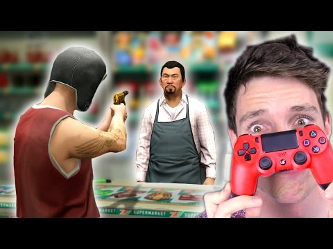 CAN I ROB A STORE BackWards Controller Challenge GTA 5 Challenge