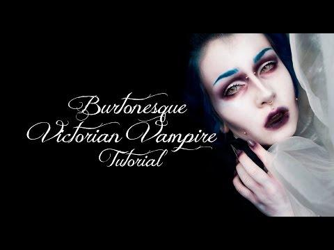 Halloween Tuesday | Burtonesque Victorian Vampire tutorial + ootd | Kika von Macabre