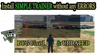 How To Install & use GTA 5 (SIMPLE TRAINER) !