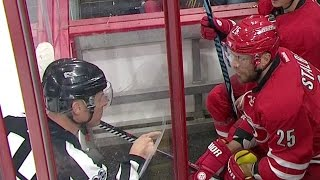 Stalberg gets an earful from ref for arguing penalty