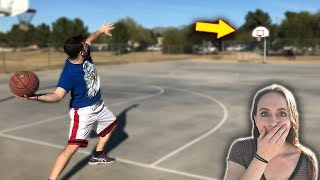 Insane Game Of H.O.R.S.E vs. My Girlfriend! IRL Basketball Challenge