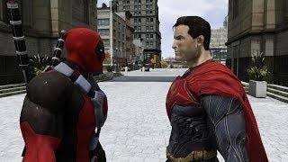 Superman vs Deadpool - EPIC BATTLE - Grand Theft Auto