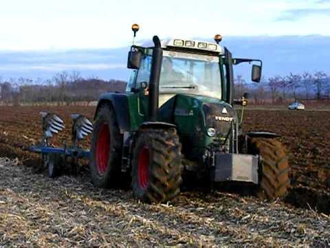 John Deer 6620 & Fendt 415 Vario tms labour à Manthes 26 Drôme 05 Janvier 2011