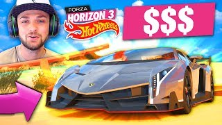 DRIVING THE MOST *EXPENSIVE* CAR IN THE GAME! 🚗🤑 - Forza Horizon 3 (HOT WHEELS DLC)