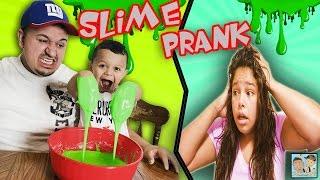BOY EATS TOXIC SLIME! DADS PRANK REVENGE! MOMS CRAZY REACTION! DINGLEHOPPERZ COOKING VLOG