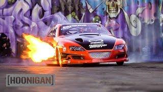 Menacing Mazda RX8 Drag Car Breathes Fire //DT244