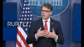 LIVE: Briefing by WH Deputy Spokeswoman Sarah Sanders and US Secretary of Energy Rick Perry