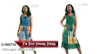 Tie Dye Summer Dress | Africa Imports