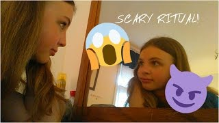THE STARING GAME! | SCARY MIRROR RITUAL