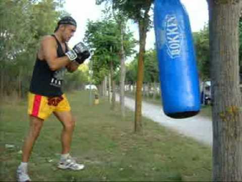 Entrenamientos de artes marciales en el camping 2010