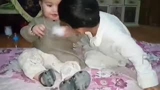 Cute Ahmed Shah ka Bachpan See this Video very funny