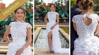 How to sew a Crop Top wedding gown? Two piece wedding dress DIY