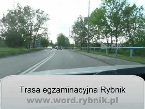 Trasa egzaminacyjna WORD Rybnik egzamin prawo jazdy CAŁA TRASA 2012