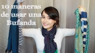 10 Maneras de usar una Bufanda
