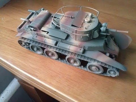 Покраска моделей танков аэрографом