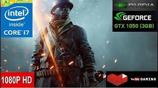 Battlefield 1 -- Intel Core i7 8700k -- Nvidia GeForce GTX 1050 3GB GDDR5 -- Gameplay