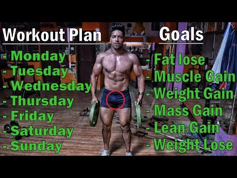 Full Week Workout Plan for - Fat Lose/Muscle Gain/Weight Gain/Lean Gain/Mass Gain