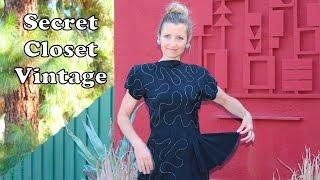 Get the Look: Secret Closet Vintage--40's Designer Date Dresses!