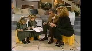 Olsen twins interview.Age 6. 1992