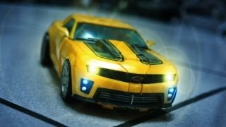 Transformers Stop Motion - Bumble Bee VS Barricade 競速與毀滅