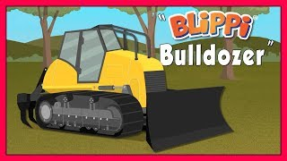 Educational Videos for Kids with Blippi | Explore A Bulldozer Construction Truck