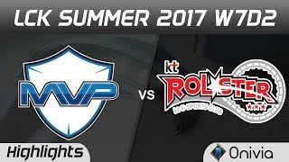 MVP vs KT Highlights Game 1 LCK SUMMER 2017 MVP vs KT Rolster by Onivia
