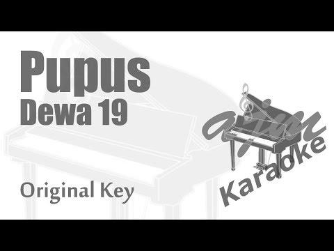 Dewa 19 - Pupus (Original Key) Karaoke Piano Version