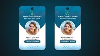 Company ID Card Design Tutorial - Photoshop CC 2017