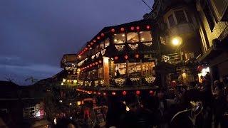俄羅斯人在台灣 , 九份基山街, 千與千尋. Russian`s in Taiwan. Spirited away. Jiufen Old Street.
