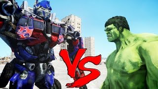 THE INCREDIBLE HULK VS OPTIMUS PRIME (Transformers)