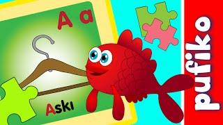 Kırmızı Balık | Alfabe | Yapboz | Bulmaca | A Harfi | Puzzle | Nesneler | Pufiko