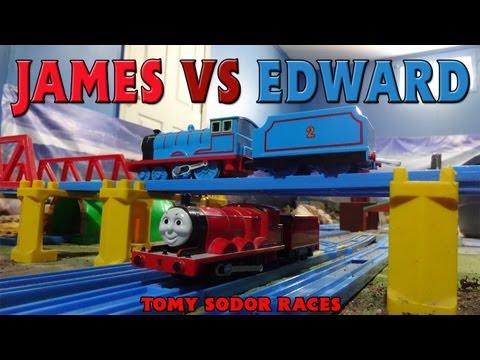 Tomy Sodor Races James vs Edward Race 11