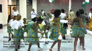 Afikpo Children Perform Cultural Dance in USA
