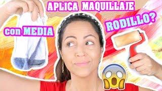 Aplicando Maquillaje, Rodillo vs Media! OMG Lunes de Tag / Reto SandraCiresArt